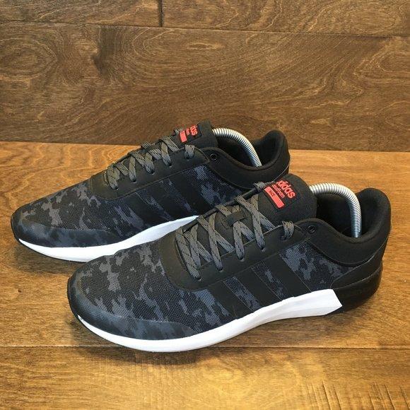 Adidas Cloudfoam Race Black Gray Camo Men's Size 9